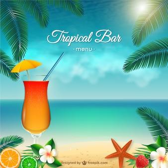 Tropical bar menu