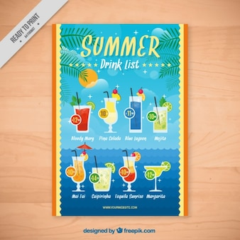 Tropical drinks brochure