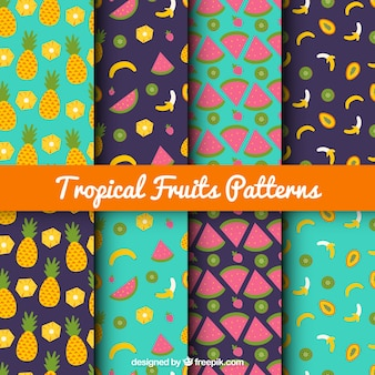Tropical fruit pattern collection