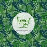 Tropical palm tree pattern