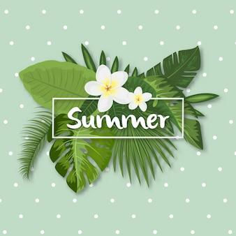 Тропический летний дизайн