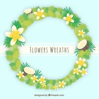 Tropical summertime floral wreath