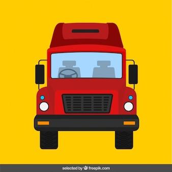 Truck in flat design