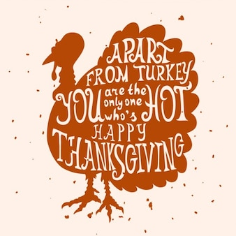 Turkey with letters, thanksgiving