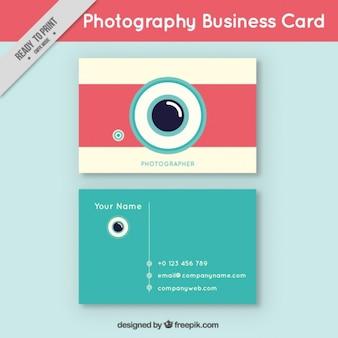 Turquoise and pink business card