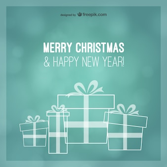 Turquoise Christmas greetings card