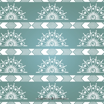 Turquoise Classic Ornamental Pattern