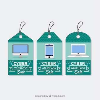 Turquoise cyber monday tags
