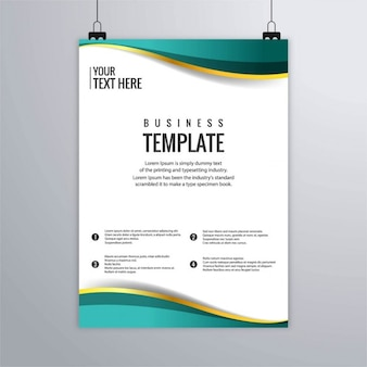 Turquoise leaflet with gold lines