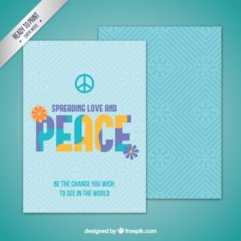 Turquoise peace card