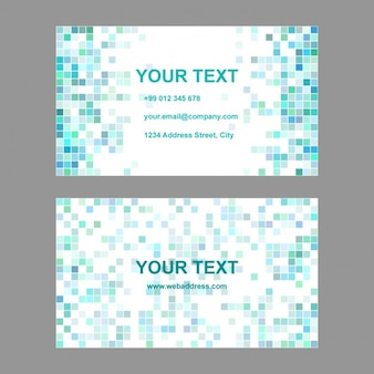 Turquoise polygonal business card