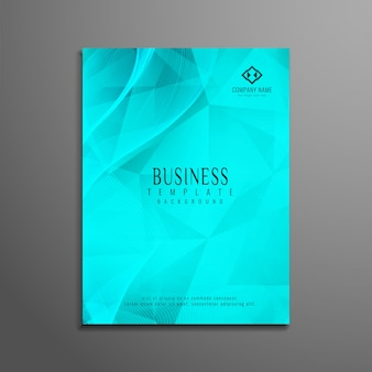 Turquoise polygonal corporate flyer design