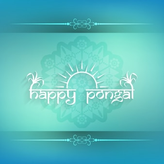 Turquoise Pongal card