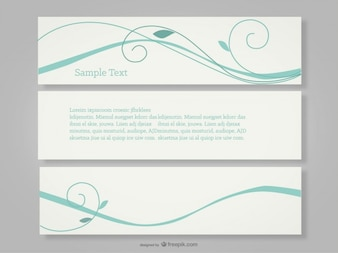 Turquoise swirls banners