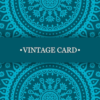 Turquoise vintage mandala design