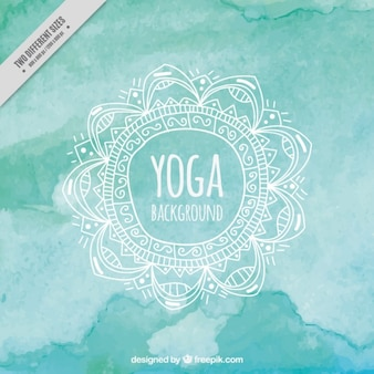 Turquoise Watercolor Yoga Background