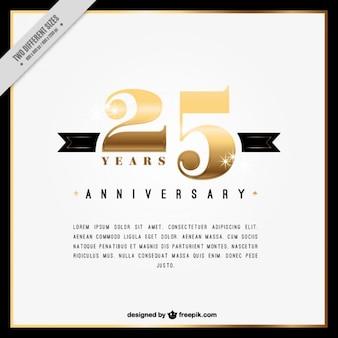 Twenty fifth anniversary  innvitation