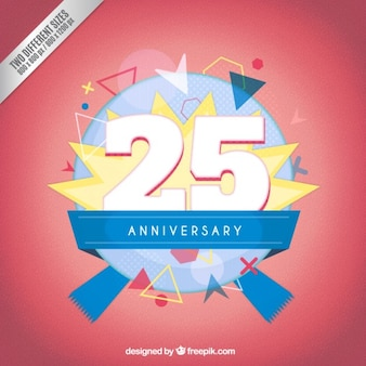 Twenty fifth anniversary modern badge