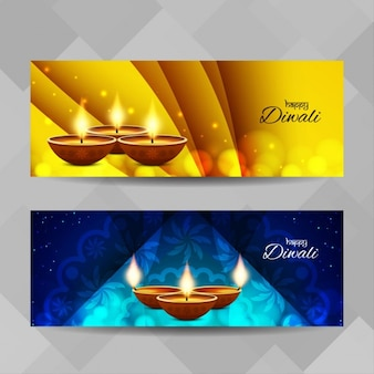 Two banners for diwali