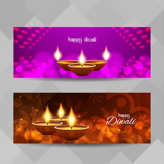 Two banners to celebrate diwali