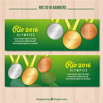 Two cute banners for the olympic games in rio