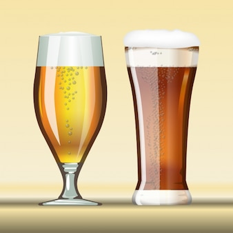 Two different beers