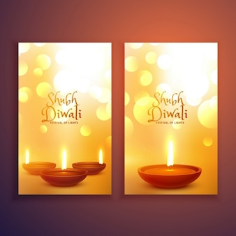 Two elegant banners for diwali