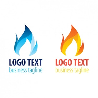Two Flame Logo Templates