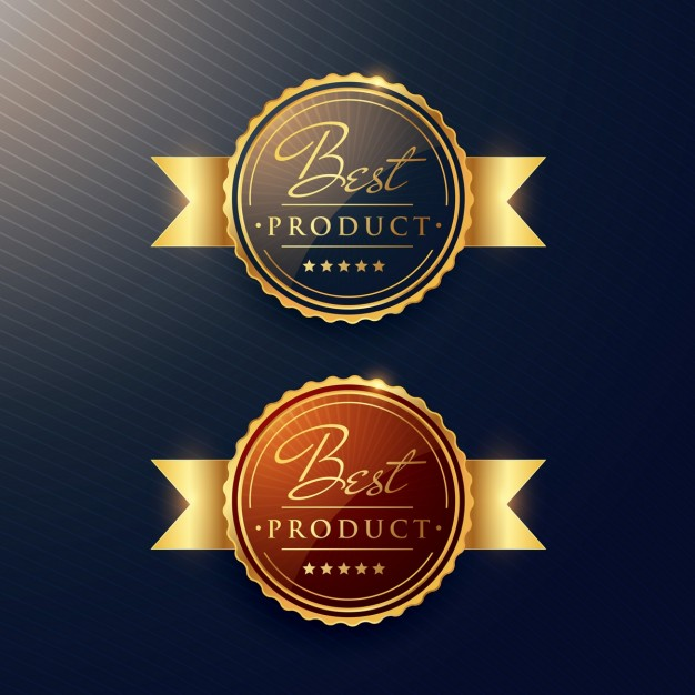 Two gold badges for awards