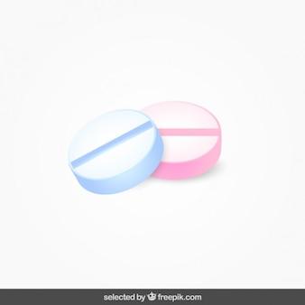 分離された2つの丸薬