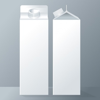Two milk tetrabriks