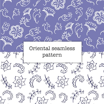 Two purple floral patterns
