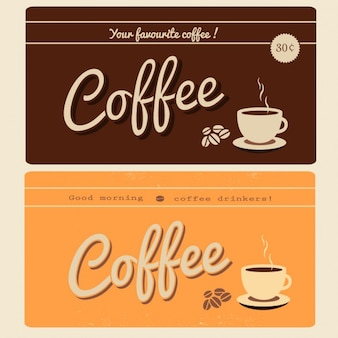 Two retro coffee banners