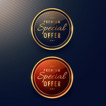 Two round premium labels