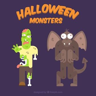 Two terrifying halloween characters