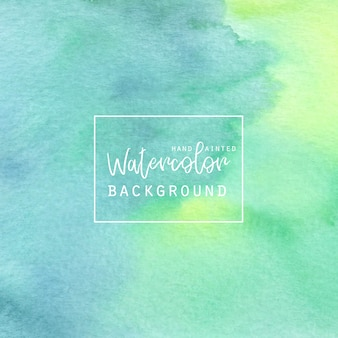Two tone green watercolor background