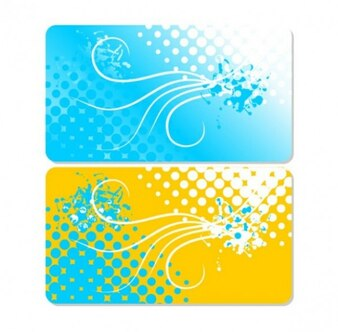 two-toned cards gift business templates set