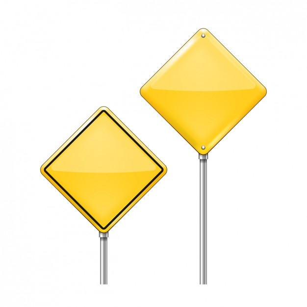 Two Warning Road Signs Pack