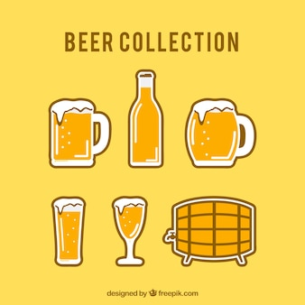 Types of beers and barrel
