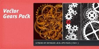 Types of gears vector illustration