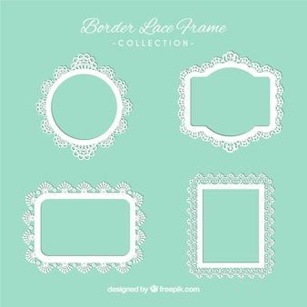 Types of lace ornamental frames