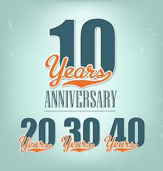 Typographic anniversary designs
