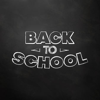 Typographic back to school chalkboard design