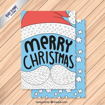 typographic christmas card with moustache