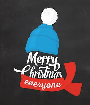 Typographic Christmas Design / Merry Christmas