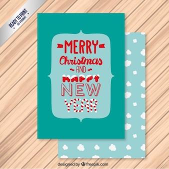 typographic christmas greeting card