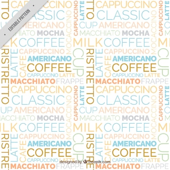 Typographic coffee pattern