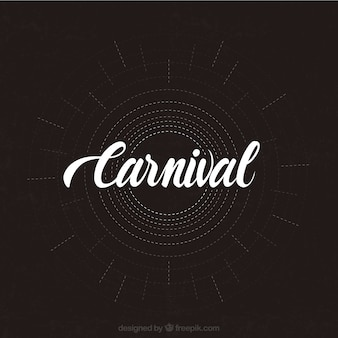 Typographical illustration of carnival
