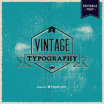 Typography vector retro poster