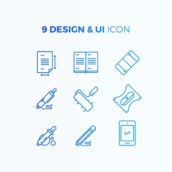 Ui and design icon collection